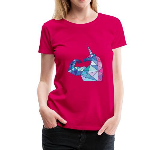 Bizepseinhorn Poly-Color - Frauen Premium T-Shirt - Frauen Premium T-Shirt