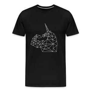 Bizepseinhorn Gitter-Design: Männer Premium T-Shirt - Männer Premium T-Shirt
