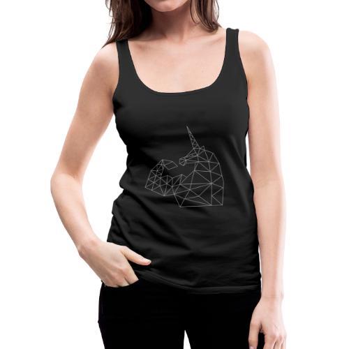 Bizepseinhorn Gitter-Design: Frauen Premium Tank Top (silbern-glitzernd) - Frauen Premium Tank Top
