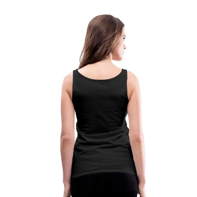 Bizepseinhorn Gitter-Design: Frauen Premium Tank Top (silbern-glitzernd)