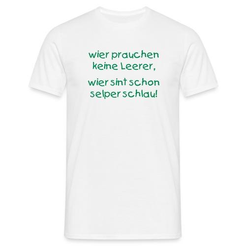 T-Shirt weiss mit Text - Männer T-Shirt