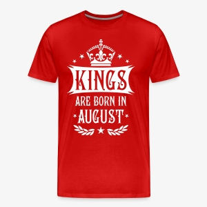 Kings are born in August Krone King Star T-Shirt - Männer Premium T-Shirt
