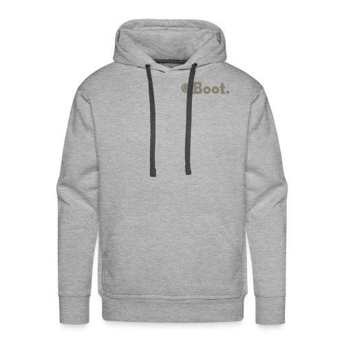 Grey with Camo DT logo on reverse - click to choose colour - Men's Premium Hoodie