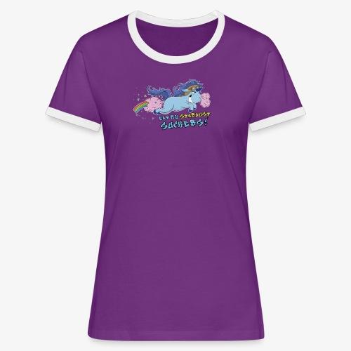 Dame kontrast-T-shirt