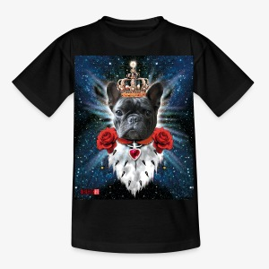 French Bully Bulldog King Queen Kinder T-Shirt schwarz - Kinder T-Shirt