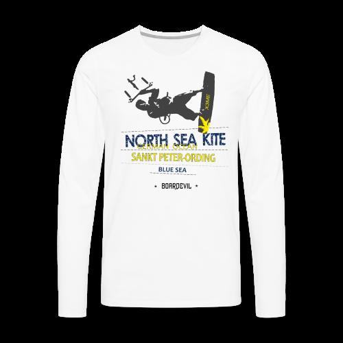 BOARDEVIL NORTH SEA KITE - Männer Premium Langarmshirt