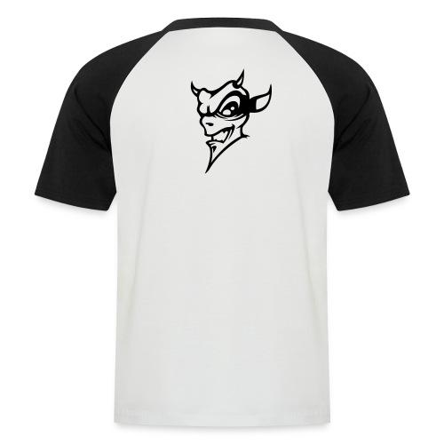Baseball T-Shirt schwarz weiss - Männer Baseball-T-Shirt
