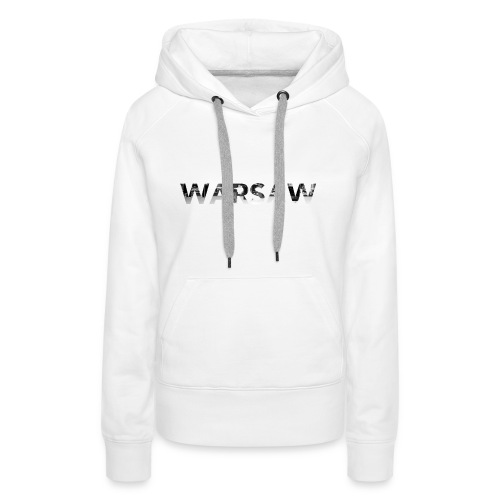 Warsaw skyline white sweat-shirt man  - Women's Premium Hoodie