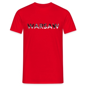 Warsaw Skyline red T-Shirt man  - Men's T-Shirt