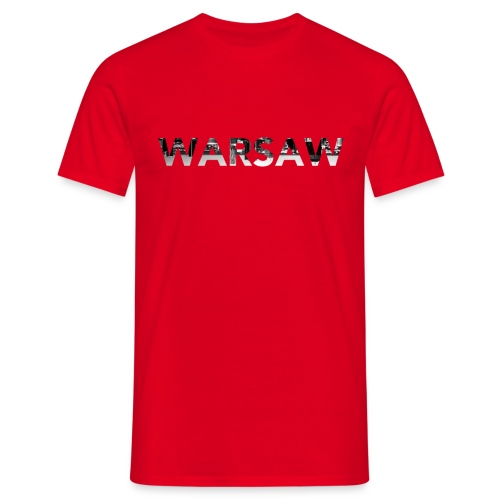 Warsaw Skyline red T-Shirt man  - Men's T-Shirt