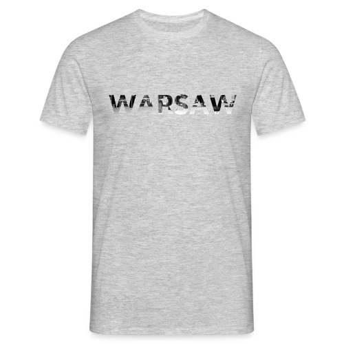 Warsaw Skyline soft Grey T-Shirt man  - Men's T-Shirt