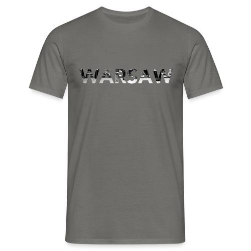 Warsaw Skyline Grey T-Shirt man  - Men's T-Shirt