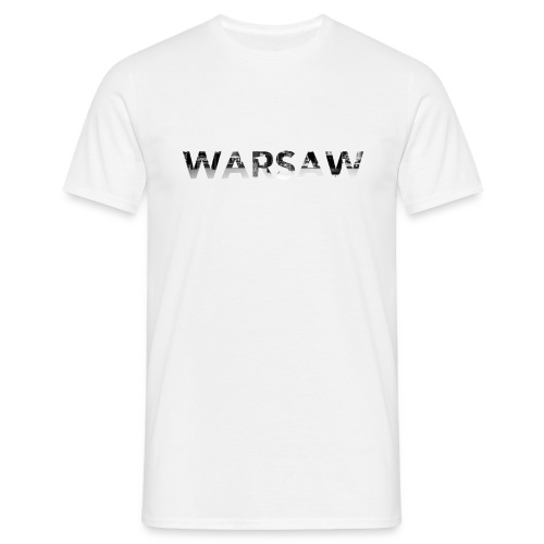 Warsaw Skyline White T-Shirt man  - Men's T-Shirt