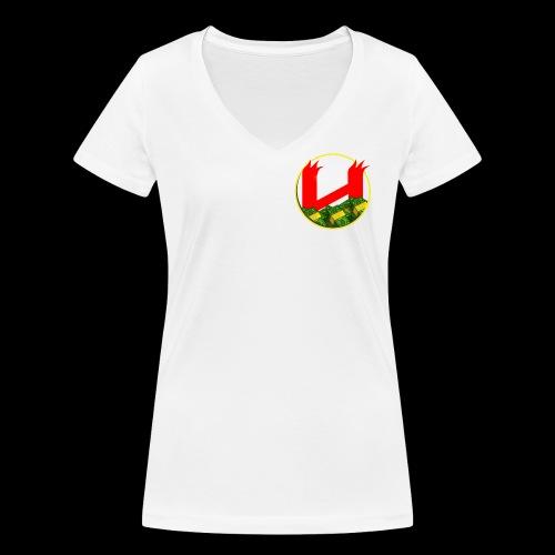 HNH Fully Loaded White Tshirt Womens - Women's Organic V-Neck T-Shirt by Stanley & Stella
