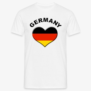 Heart for Germany Herz Deutschland Fahne Flagge T-Shirt - Männer T-Shirt