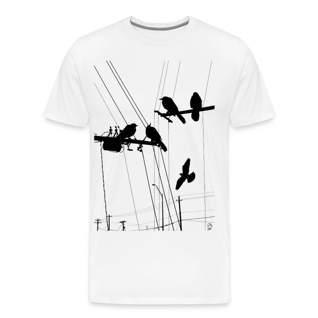 Hipster T-shirt AD Birds wit