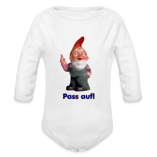 Gartenzwerg Pass auf! - Baby Bio-Langarm-Body