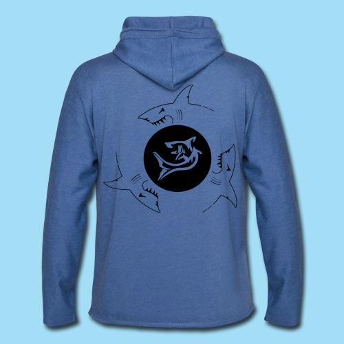Premium Hoddie Blau | SHARKS | Schwarz - Leichtes Kapuzensweatshirt Unisex