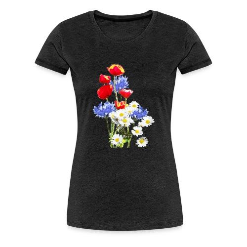 Mohn-Kornblumen,Margerite - Frauen Premium T-Shirt
