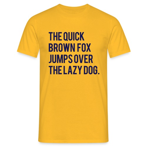 The Quick Brown Fox Jumps Over The Lazy Dog - Limited Edition - Yellow - Men's T-Shirt