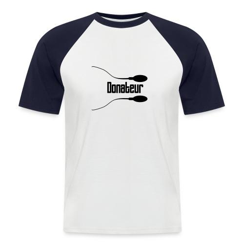 T-shirt gris/charbon - T-shirt baseball manches courtes Homme