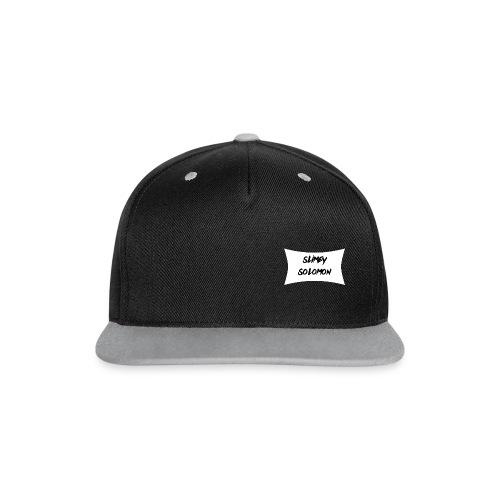Slimey Solomon Black-Grey Snapback - Contrast Snapback Cap
