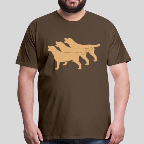 3 gelbe Labrador Retriever - Männer Premium T-Shirt