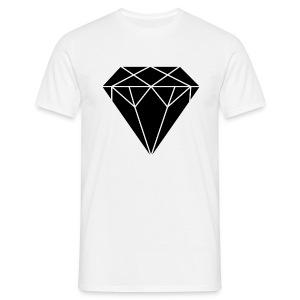 Diamond zwart - Mannen T-shirt