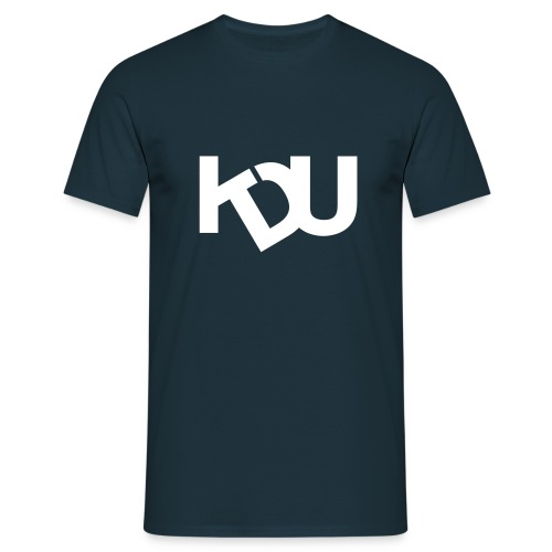 KDU Stor logga - T-shirt herr