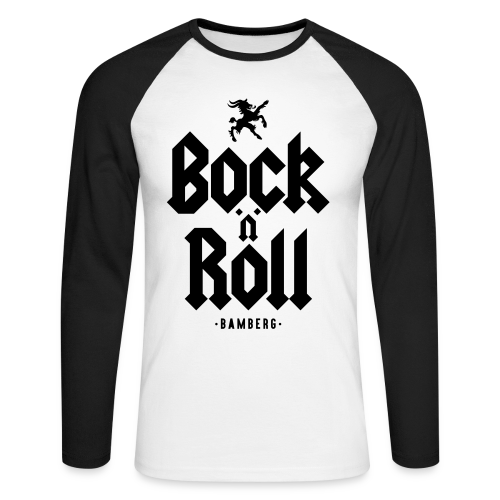 The BnR - Herren Baseball Langarmshirt - 100% Baumwolle - #BNRBBG - Männer Baseballshirt langarm