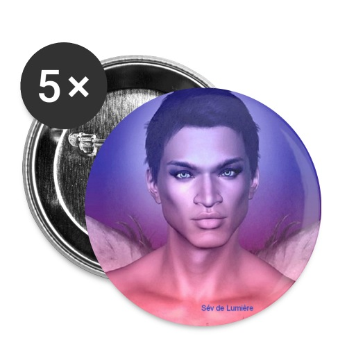 badge chargé en  Protection Archange  Mikhael 32 mm - Lot de 5 moyens badges (32 mm)