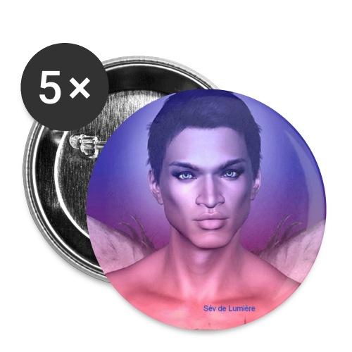 badge chargé en  Protection Archange  Mikhael 25 mm  - Lot de 5 petits badges (25 mm)