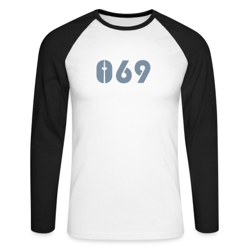 069 LONGSLEEVE SILBER-MATT - Männer Baseballshirt langarm