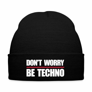 don't worry be techno - Wollmütze - Wintermütze