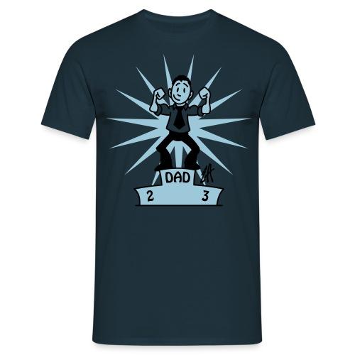 dad nr 1 - blauw - Mannen T-shirt