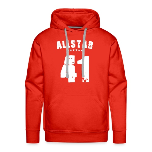 Allstar 41, Hood (white) - Men's Premium Hoodie