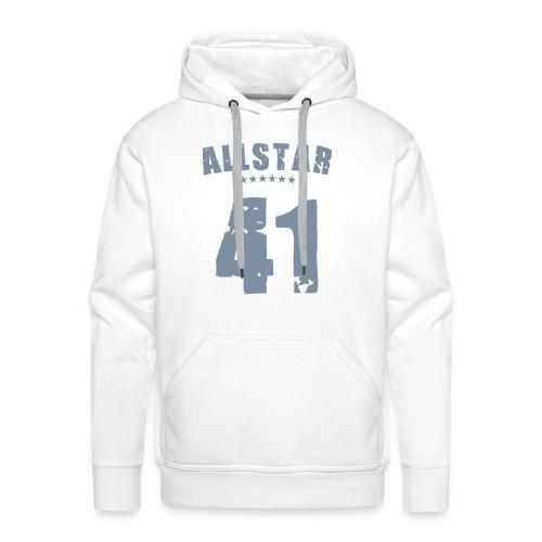 Allstar 41, Hood (silver) - Men's Premium Hoodie