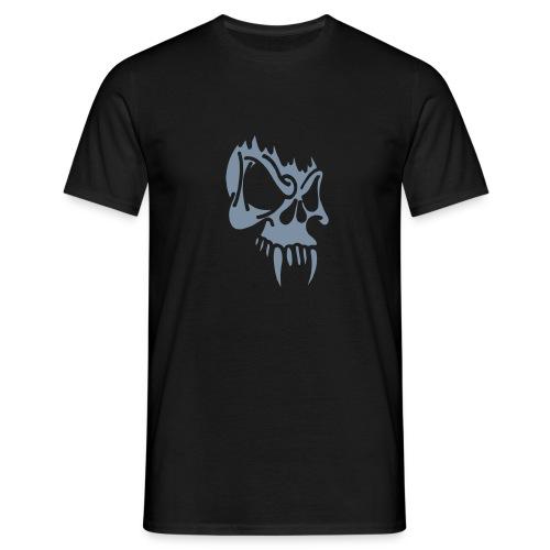Evil Skull (silver) - Men's T-Shirt
