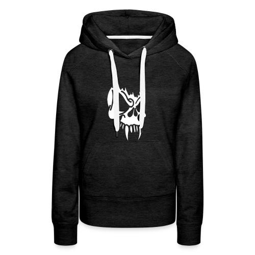 Evil Skull, Hood (white) - Women's Premium Hoodie