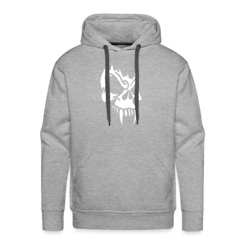 Evil Skull, Hood (white) - Men's Premium Hoodie