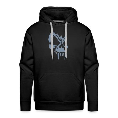 Evil Skull, Hood (silver) - Men's Premium Hoodie