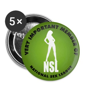 Lot de 5 badges 25mm NSL - Badge petit 25 mm