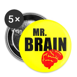 Lot de 5 badges 25mm Mr BRAIN - Badge petit 25 mm