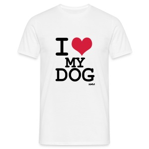 Mens 'I Love My Dog' T-Shirt - Men's T-Shirt