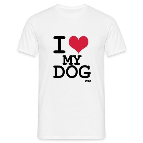 Mens 'I Love My Dog' T-Shirt - Men's T-Shirt
