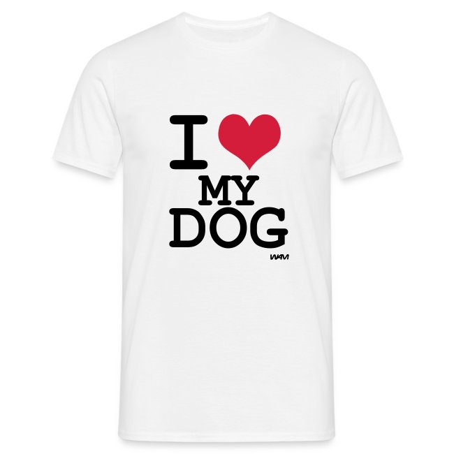 Mens 'I Love My Dog' T-Shirt