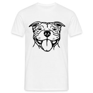 Mens Staffy Smile T-Shirt - Men's T-Shirt