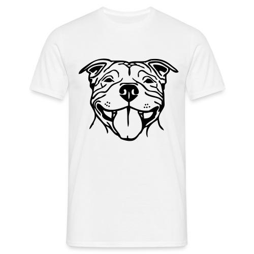 Mens Staffy Smile T-Shirt - Men's T-Shirt