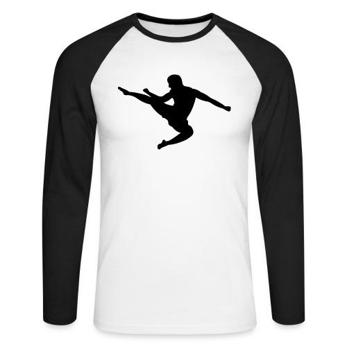 Men's Raglan Long Sleeve-Karate - Men's Long Sleeve Baseball T-Shirt