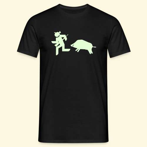 Jagd-Shirt Flucht - nachtleuchtend *RADIOAKTIV* - Männer T-Shirt